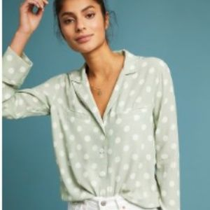 Geneva Polka Dot Buttondown